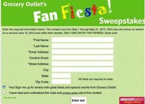 Grocery Outlet's Fan Fiesta Sweepstakes