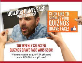 Quiznos Qrave Face Photo Contest