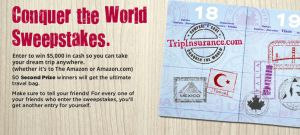 TripInsurance Conquer the World Sweepstakes