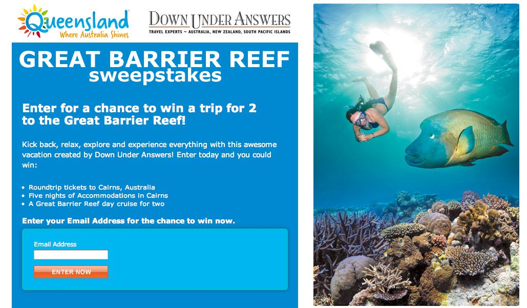 Great Barrier Reef Sweepstakes