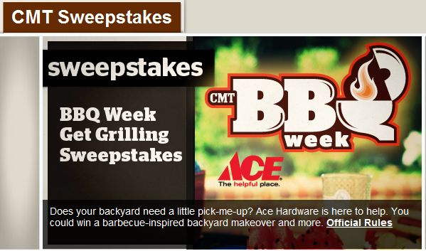 CMT BBQ Week Get Grilling Sweepstakes