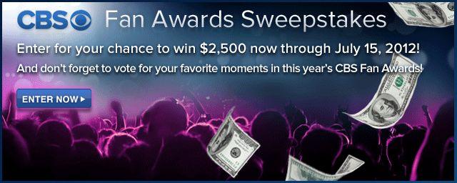 CBS Fan Awards Sweepstakes