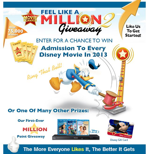 Disney Movie Rewards Feel Like A Million 2 Giveaway