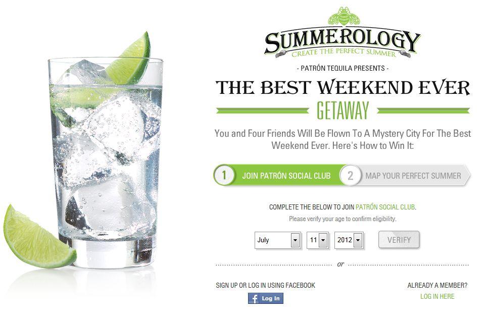 Patrón Tequila Best Weekend Ever Sweepstakes