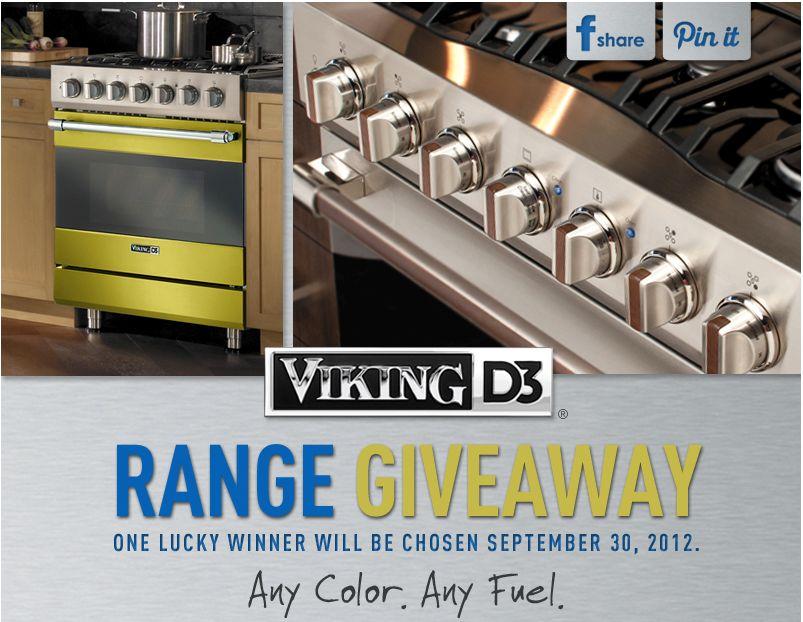 "Viking 30"" D3 Series Range Giveaway Sweepstakes"