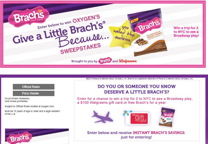 """Oxygen's """"Give A Little Brach's Because…"""" Sweepstakes"""