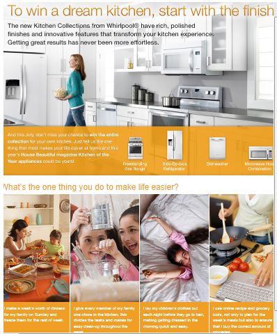 """The Whirlpool® House Beautiful """"Kitchen of the Year"""" Contest"""