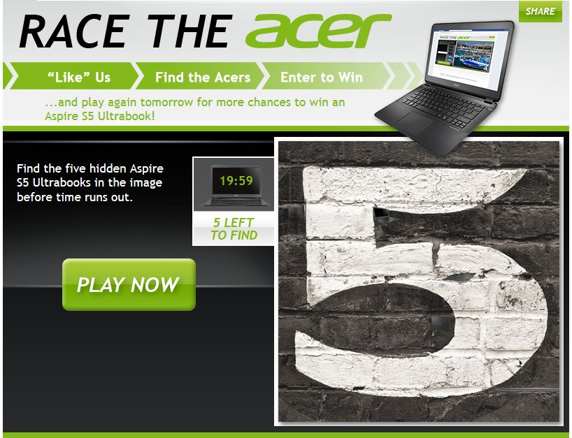 Race the Acer Sweepstakes