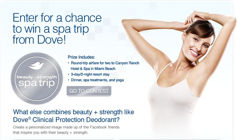 The Dove Beauty + Strength Spa Trip Sweepstakes