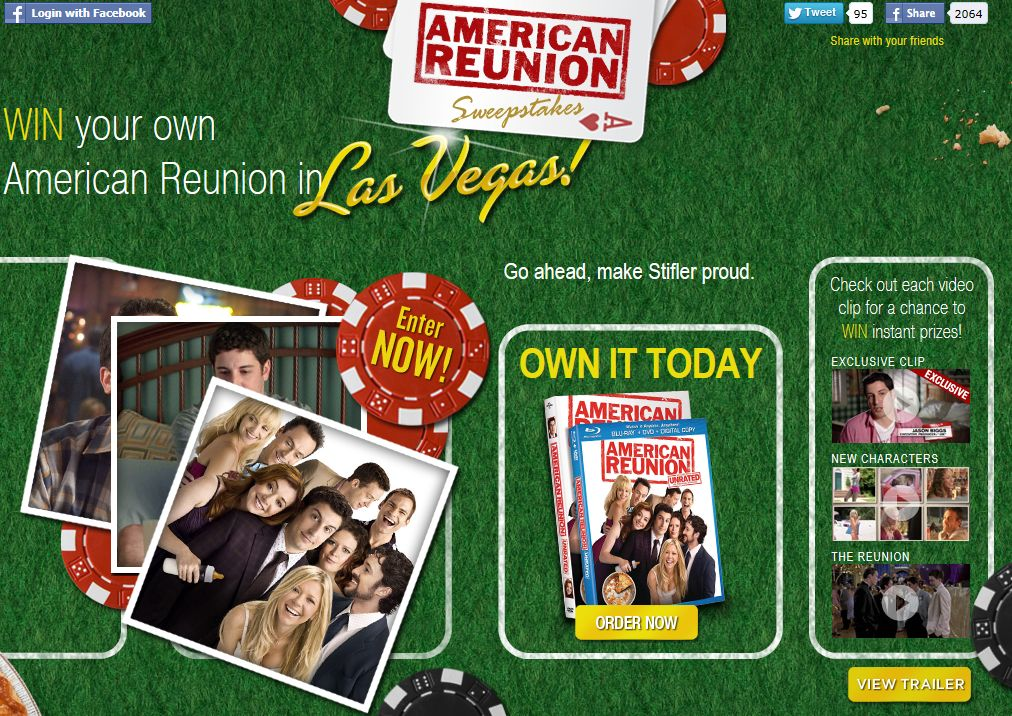American Reunion Instant Win Game & Sweepstakes