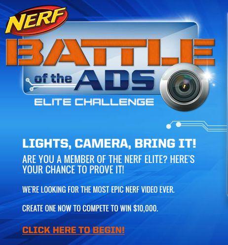 NERF Battle of the Ads – Elite Challenge