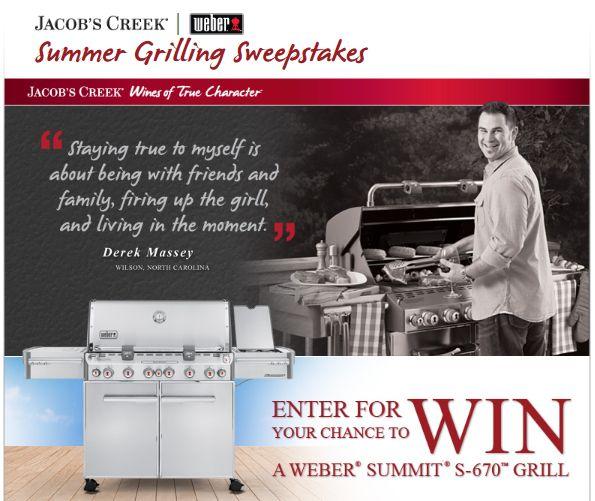 Jacob's Creek/Weber Summer Grilling Sweepstakes