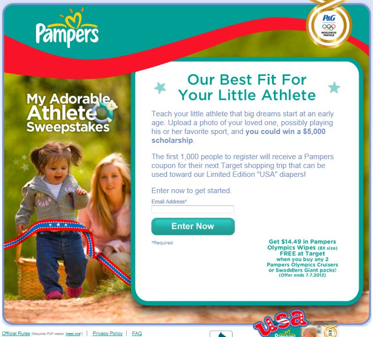 My Adorable Athlete Sweepstakes