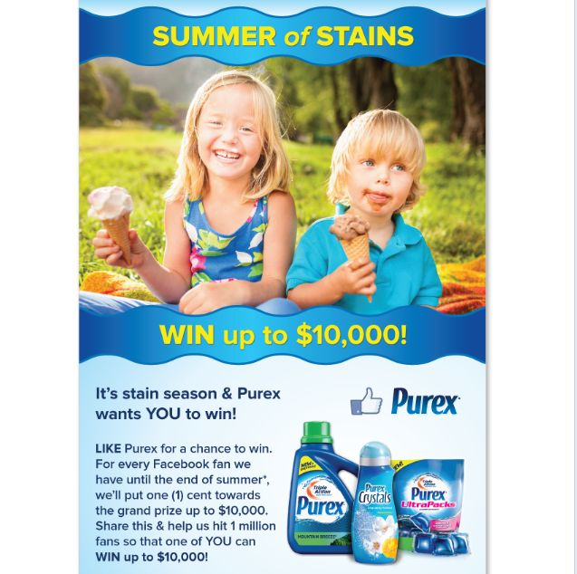 Purex Summer of Stains Sweepstakes