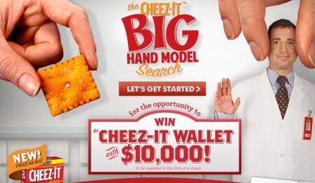 The Cheez-It Big Hand Model Search