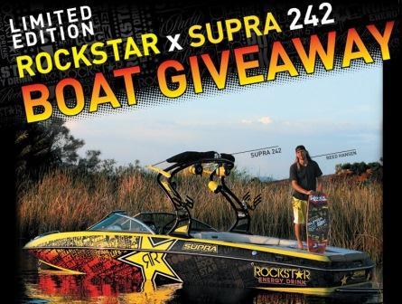 Rockstar Supra Boat Sweepstakes