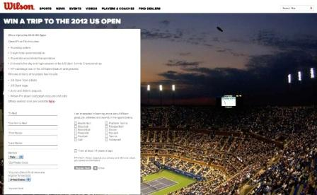 Wilson Win a VIP trip to the 2012 US Open Sweepstakes