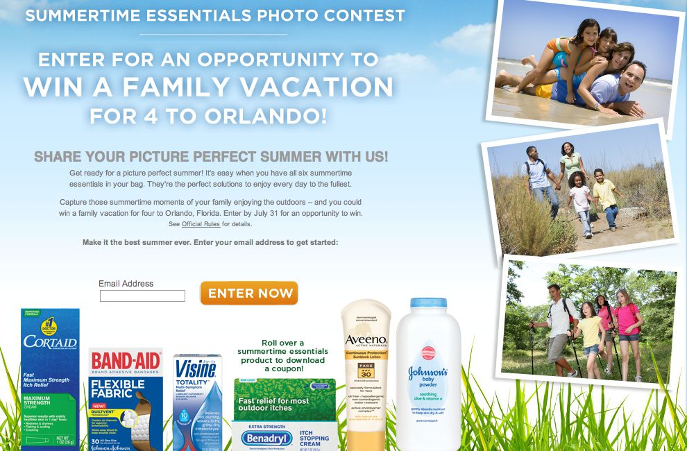 Johnson and Johnson Summertime Essentials Photo Contest