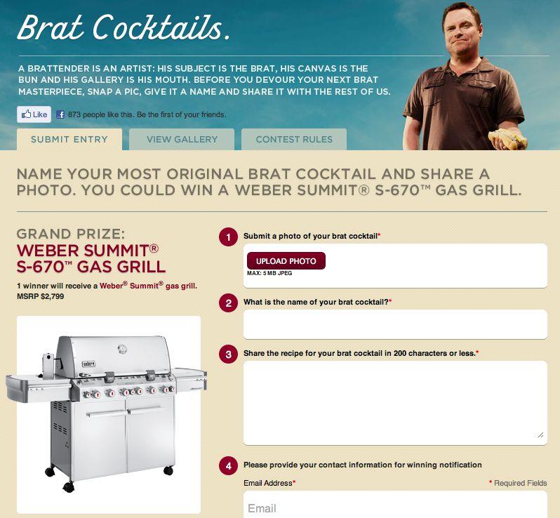 "Johnsonville ""Brat Cocktail"" Contest"