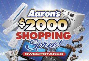 Aaron's $2,000 Shopping Spree Sweepstakes