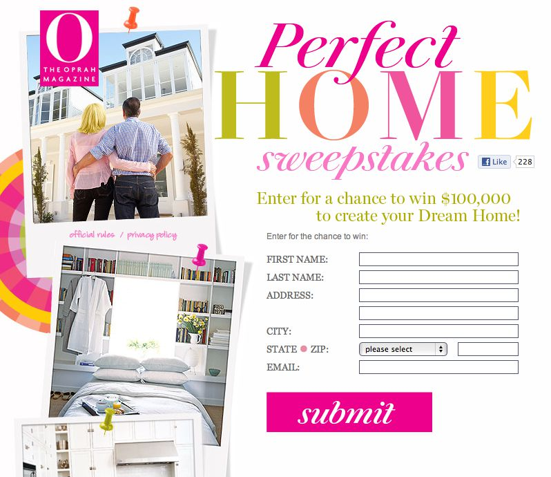 Perfect Home Sweepstakes