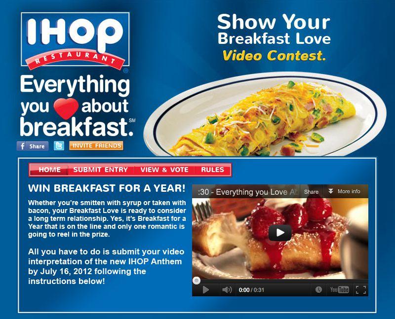 IHOP® Show Your Breakfast Love Video Sweepstakes