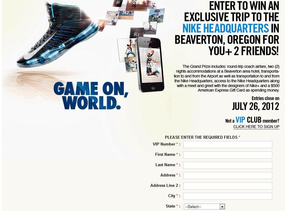 "The ""Foot Locker Nike"" Sweepstakes"