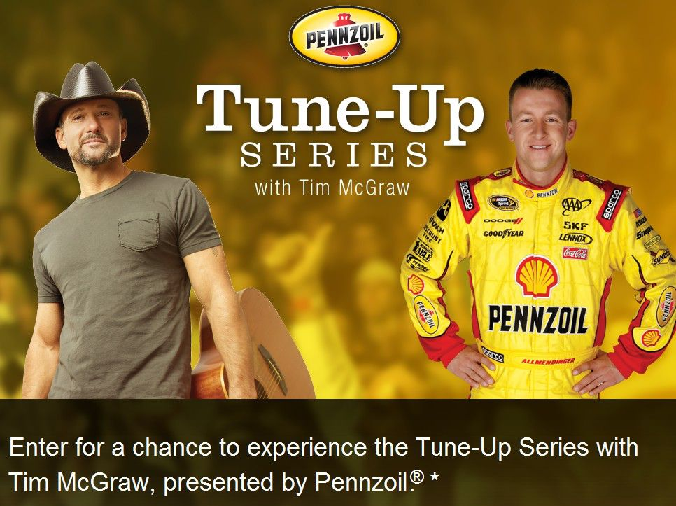 2012 Pennzoil  Music + Racing VIP Experience Sweepstakes
