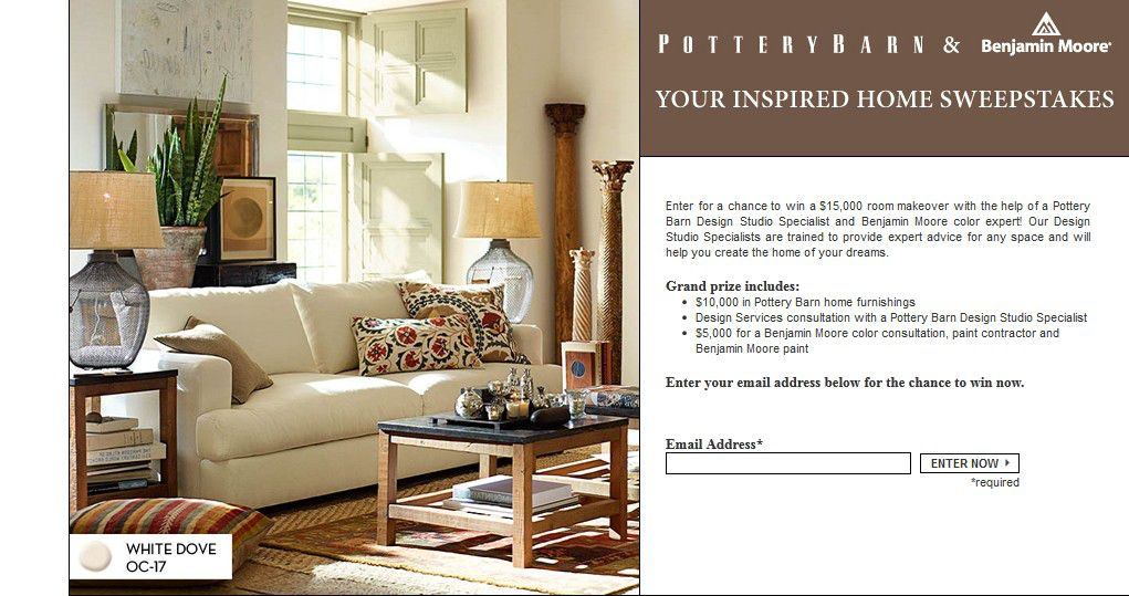 Pottery Barn Your Inspired Home Sweepstakes