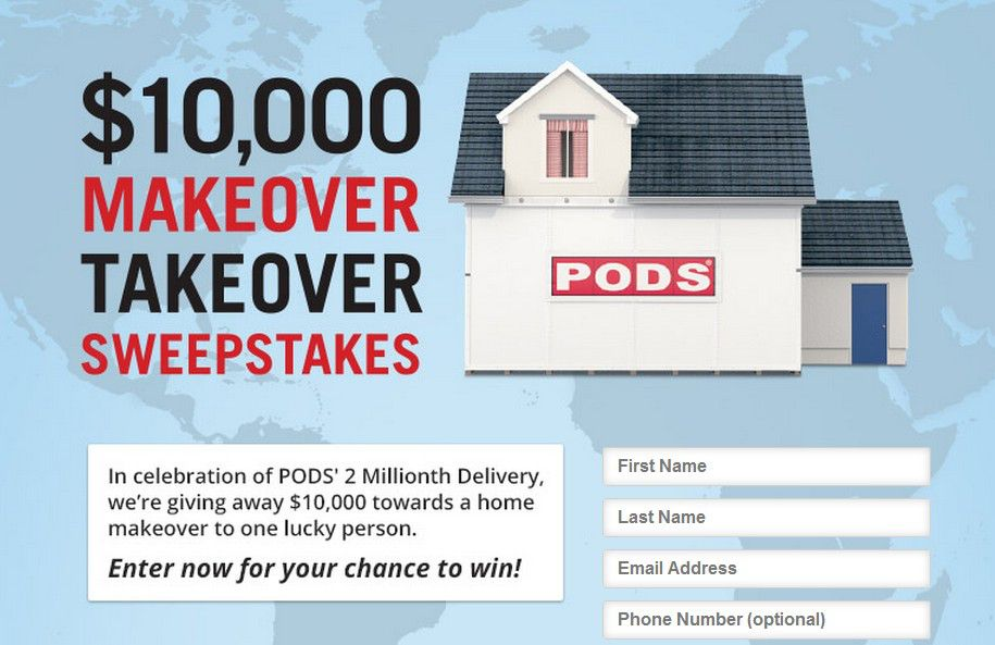 The PODS Makeover Takeover Sweepstakes