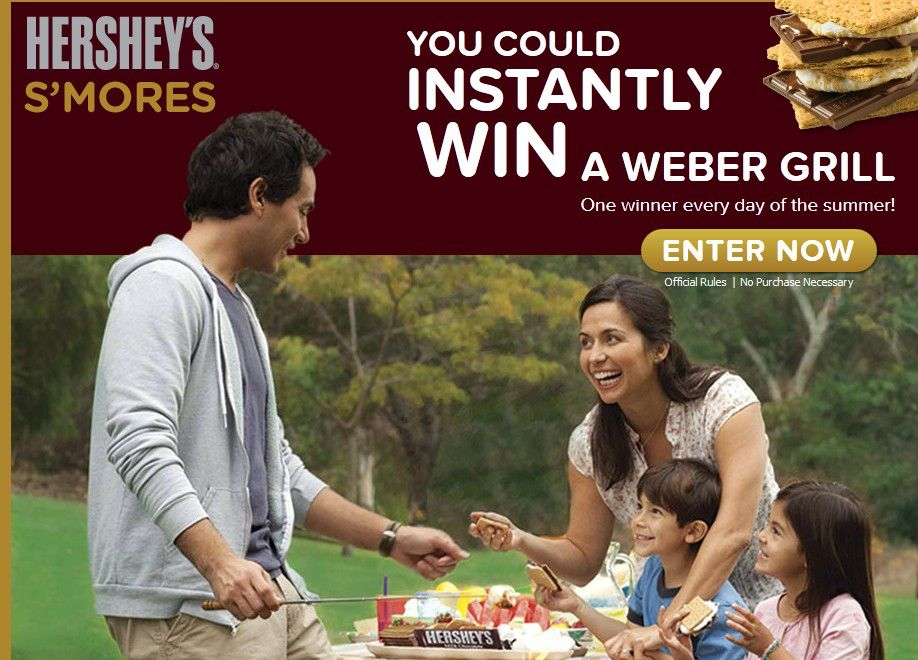 HERSHEY'S® SUMMER S'MORES grilling Instant win game/Sweepstakes