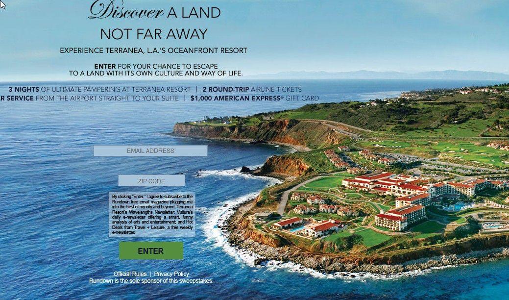 Terranea Luxury Getaway Sweepstakes
