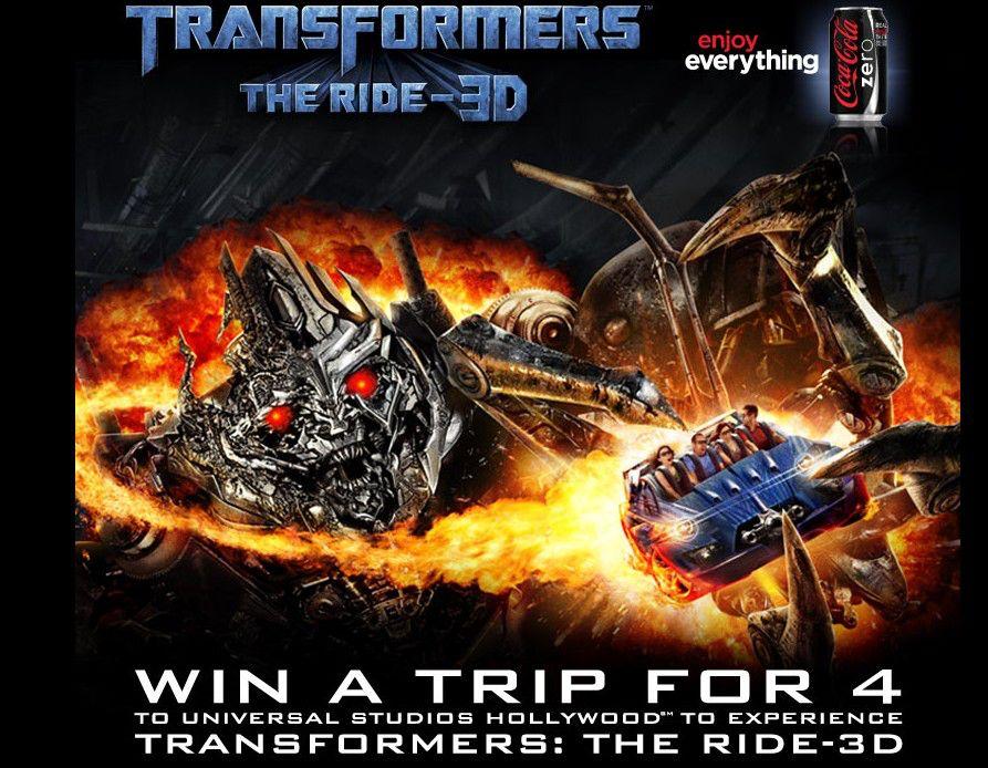 Coke Zero /Transformers: The Ride 3D Sweepstakes