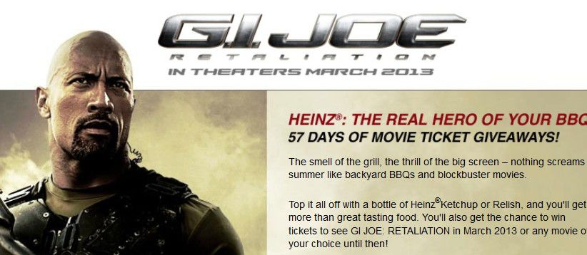 "Heinz ""GI Joe"" Sweepstakes"