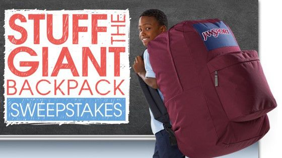 Academy Stuff The Backpack Sweepstakes