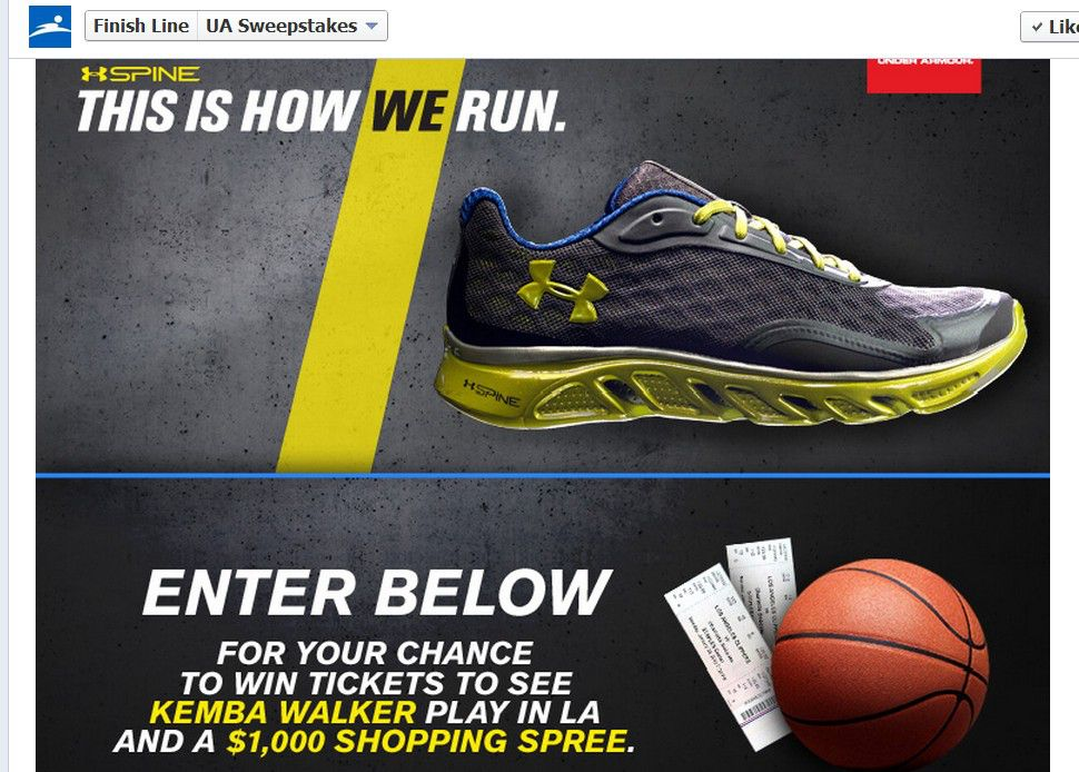"Under Armour/Finish Line ""This Is How Kemba Runs"" Sweepstakes"