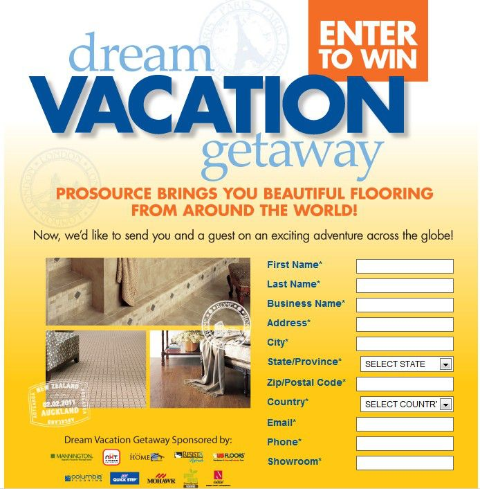 Dream Vacation Getaway Sweepstakes