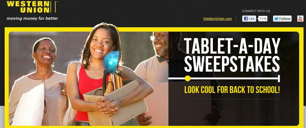 "The Western Union® ""Tablet-A-Day"" Sweepstakes"