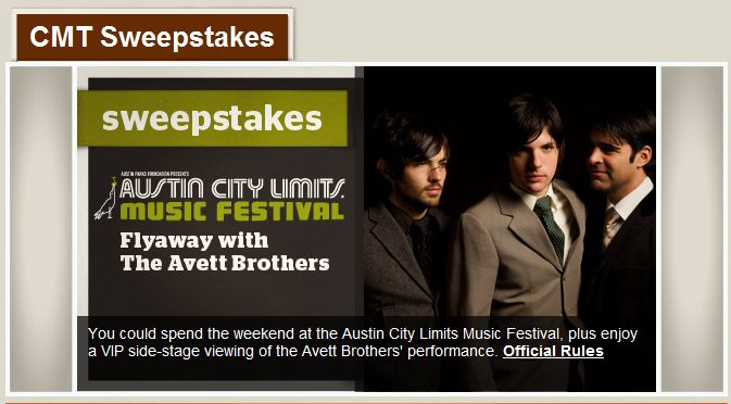 """Austin City Limits Festival Flyaway"" Sweepstakes"