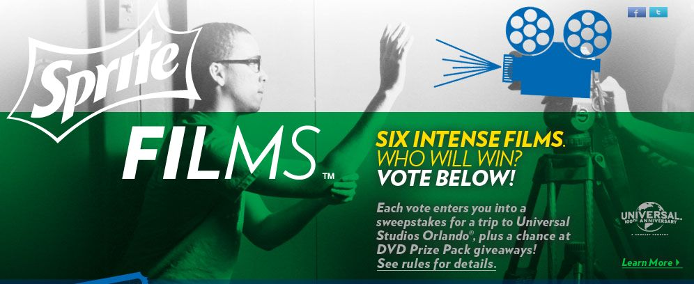 Sprite Films – Vote for Your Favorite Film Sweepstakes