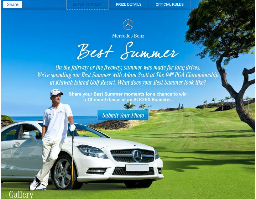 Mercedes-Benz Best Summer Sweepstakes