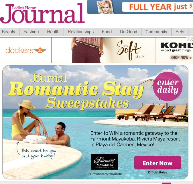 The Romantic Getaway Sweepstakes