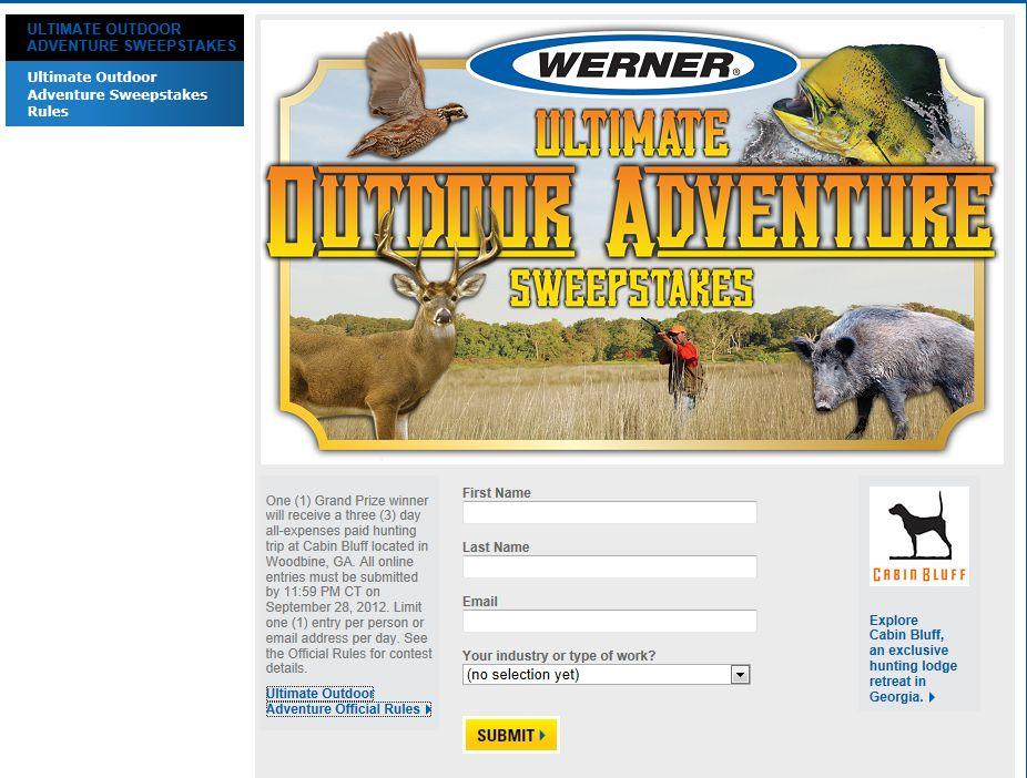 2012 Ultimate Outdoor Adventure Sweepstakes