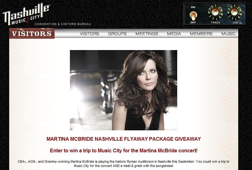 Martina's Nashville Flyaway Package Giveaway