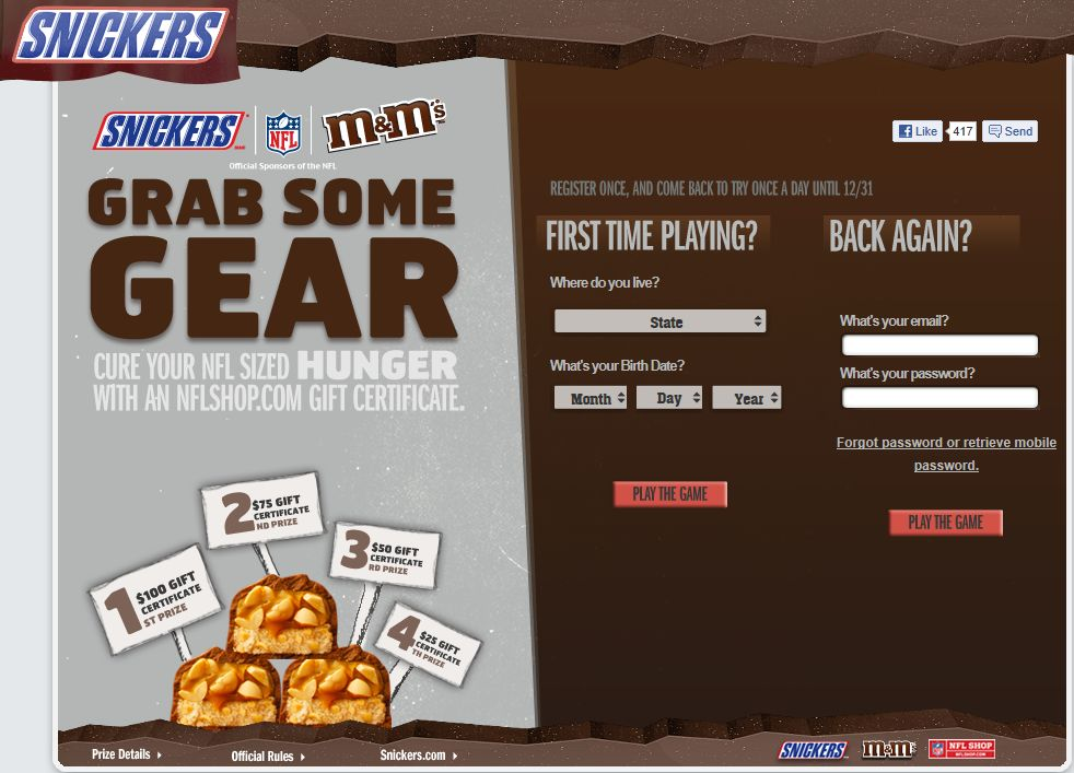 Mars Chocolate North America Grab Some Gear Instant Win Game