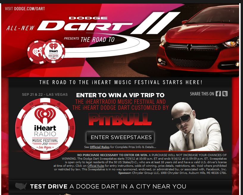 The Dodge Dart Sweepstakes