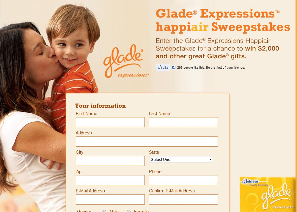 Glade Expressions Happiair Sweepstakes