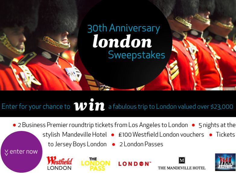 Air New Zealand 30th Anniversary London Sweepstakes