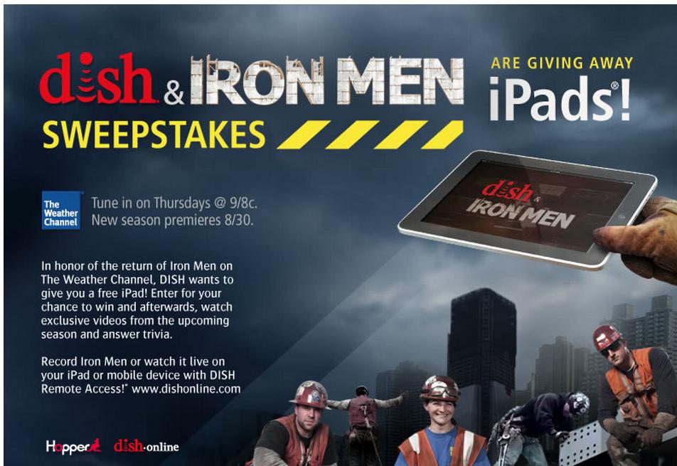 Dish Iron Men Sweepstakes