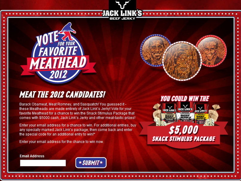 Vote for Your Favorite Meathead Sweepstakes